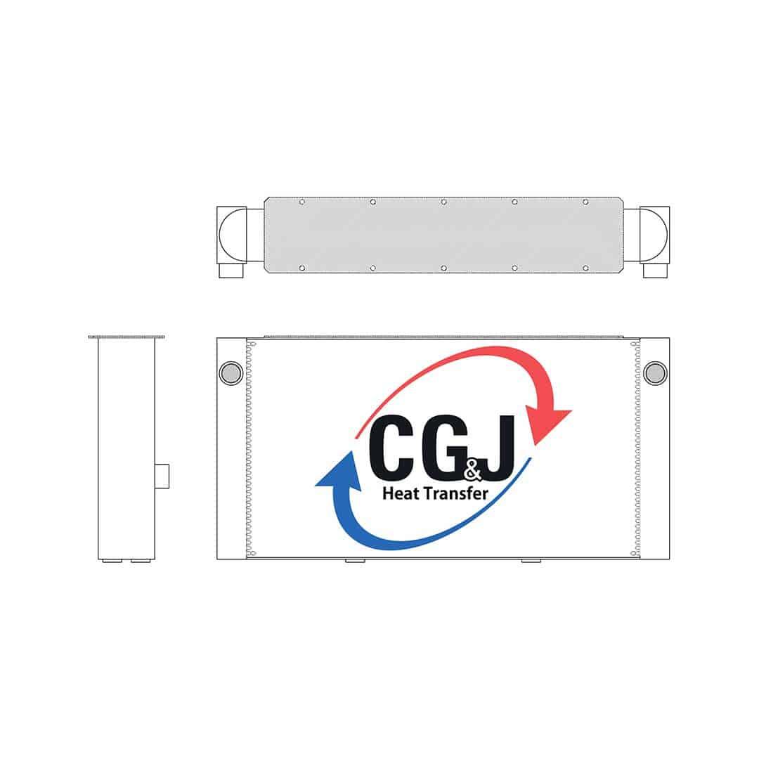 BT 5216 - Aluminum Frac Pump Oil Cooler